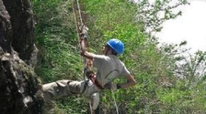 Rappelling for a cause Gopalakrishnan who is visually impaired took part in a trek in the Himalayas